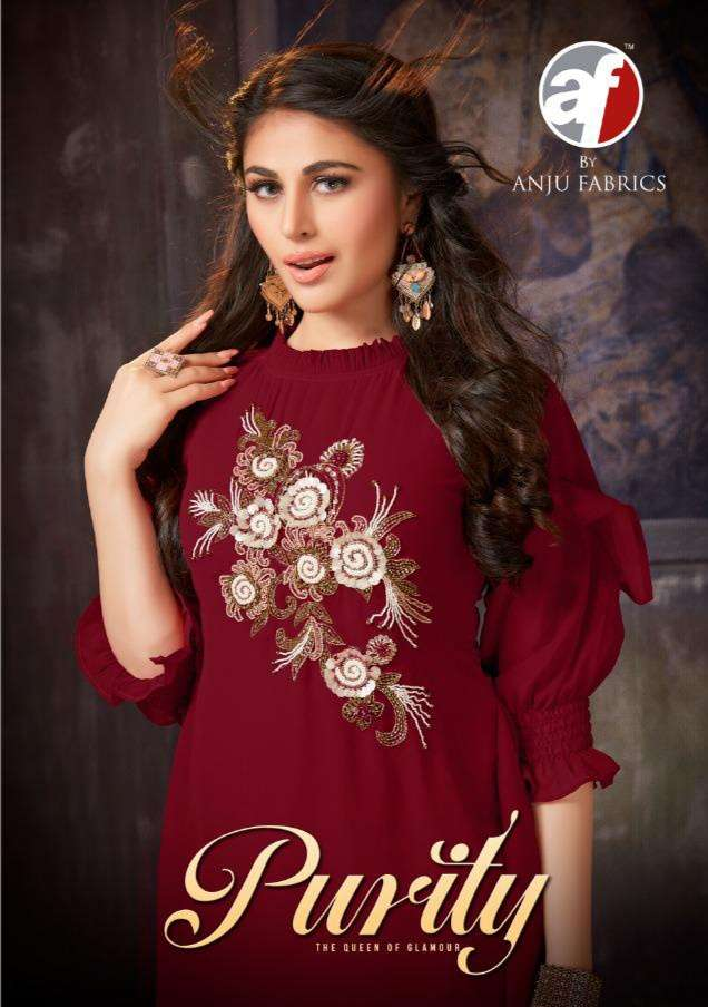 Anju fabrics  Purity vol 1 fox Georgette kurti collection