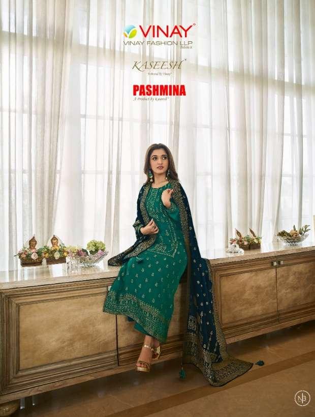 Vinay Fashion Kaseesh Pashmina Viscose Jacquard pashmina Suits Collection