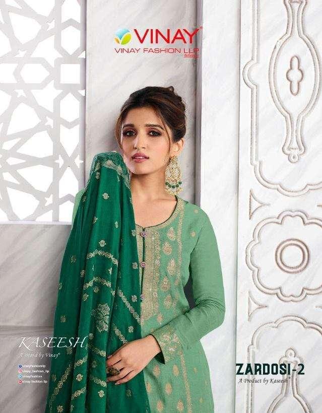 Vinay fashion Kaseesh Zardosi Vol 2 Dola Jacquard Dress Material collection