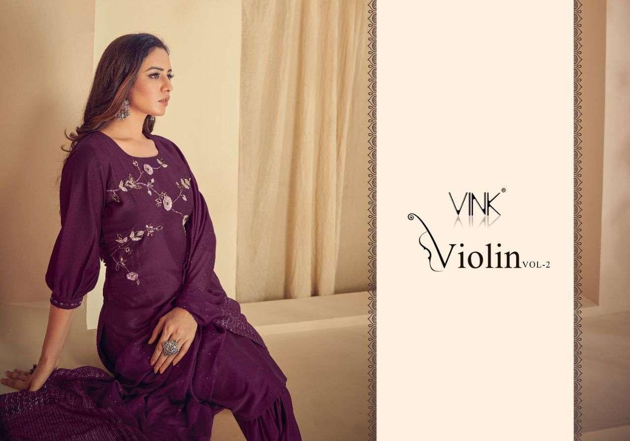 Vink Violin Vol 2 Silk With Work Kurti With Sharara And dupatta Collection