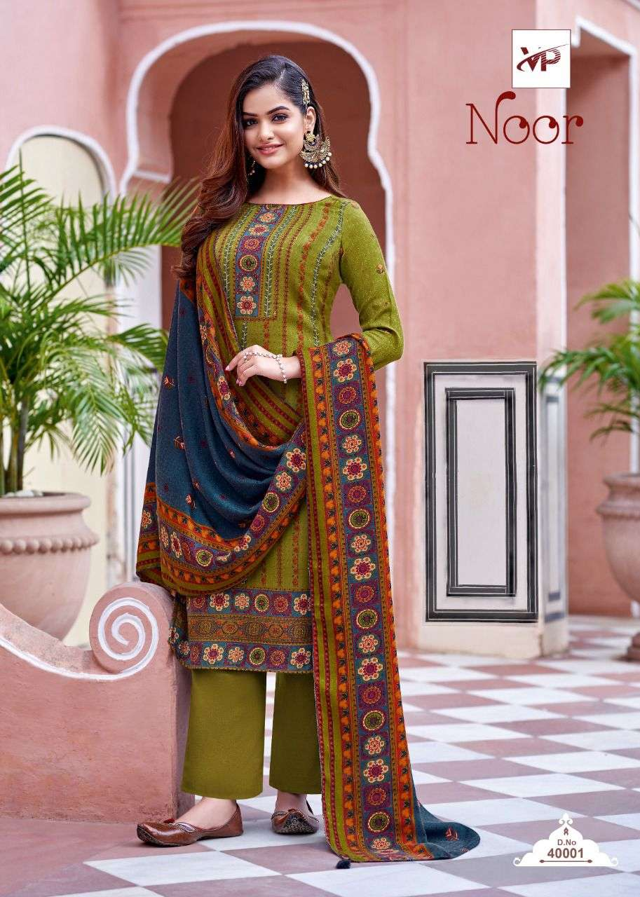 VP Noor Pure Pashmina Printed Dress Material Collection