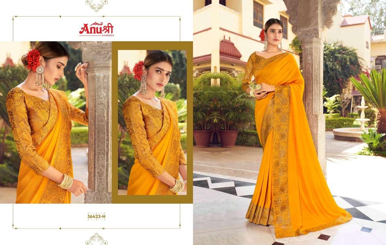 Anushree Kanjivaram Gold Art Silk Sarees Collection