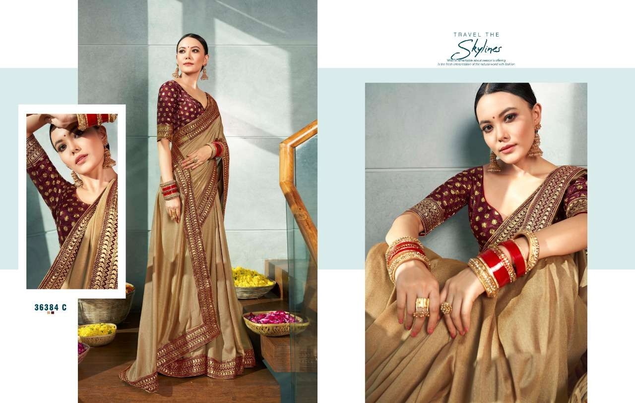 Anushree Kaya satin Georgette With Heavy Work Lace Border Sarees Collection