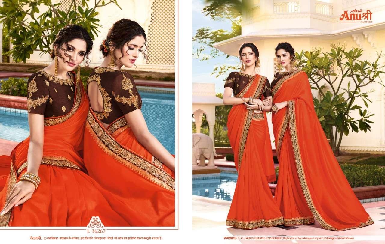 Anushree Lajvanti Georgette With Lace Border Sarees Collection