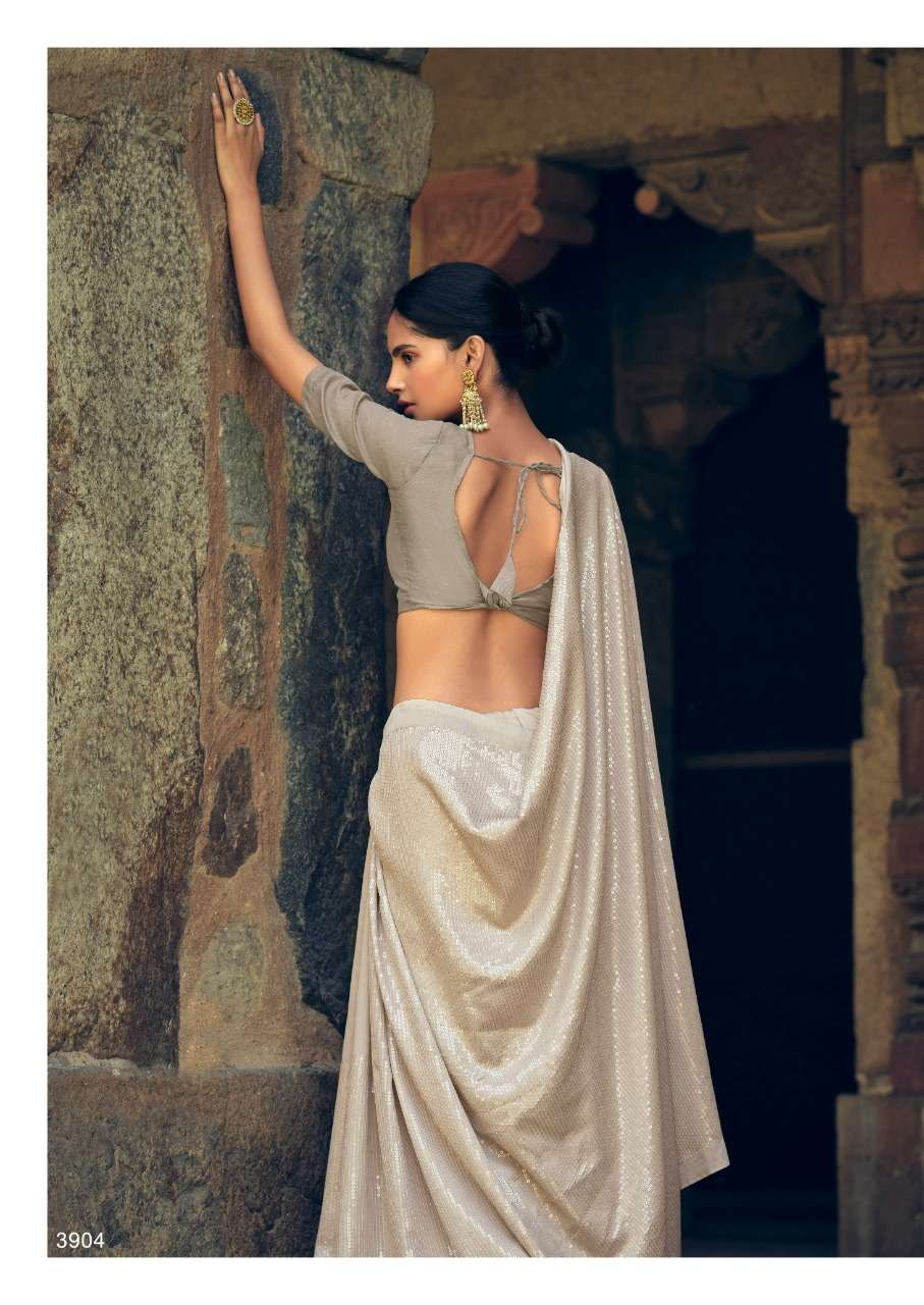 Kashvi Heer Soft Print With Sequence Sarees Collection