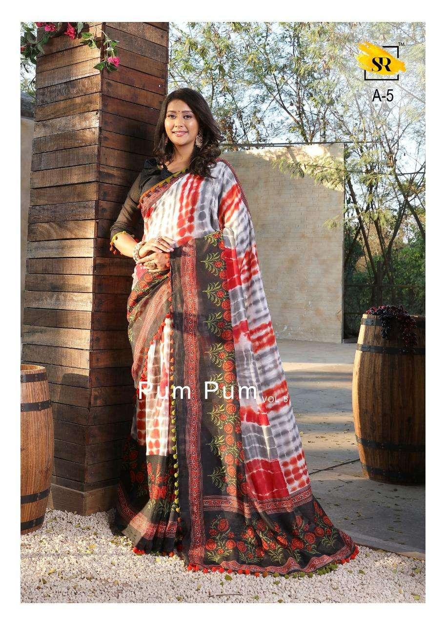 SR Sarees Pum Pum Vol 5 Soft Cotton Printed Regular Wear Sarees Collection