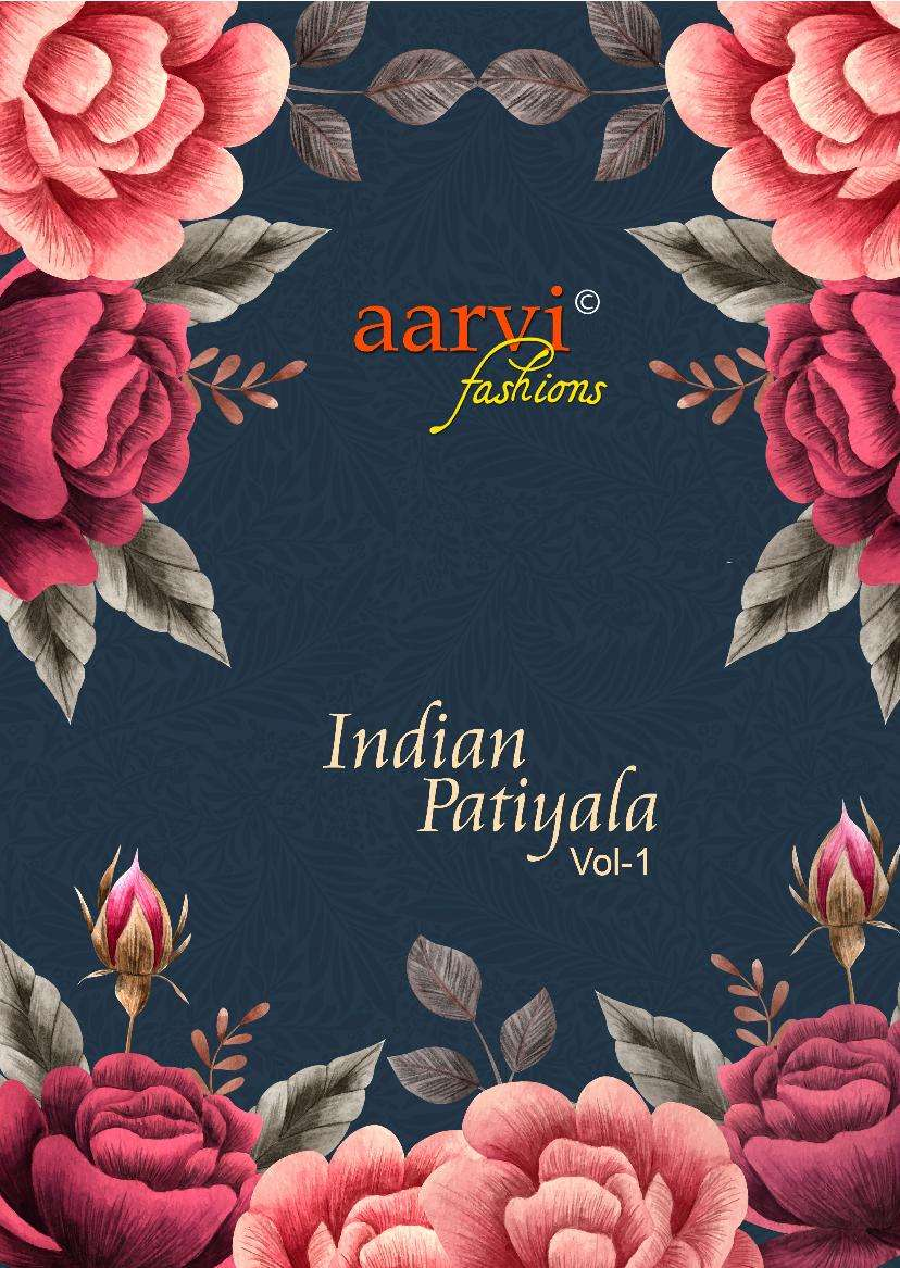 AARVI FASHION INDIAN PATIYALA VOL 1 COTTON READYMADE DRESS MATERIAL COLLECTION