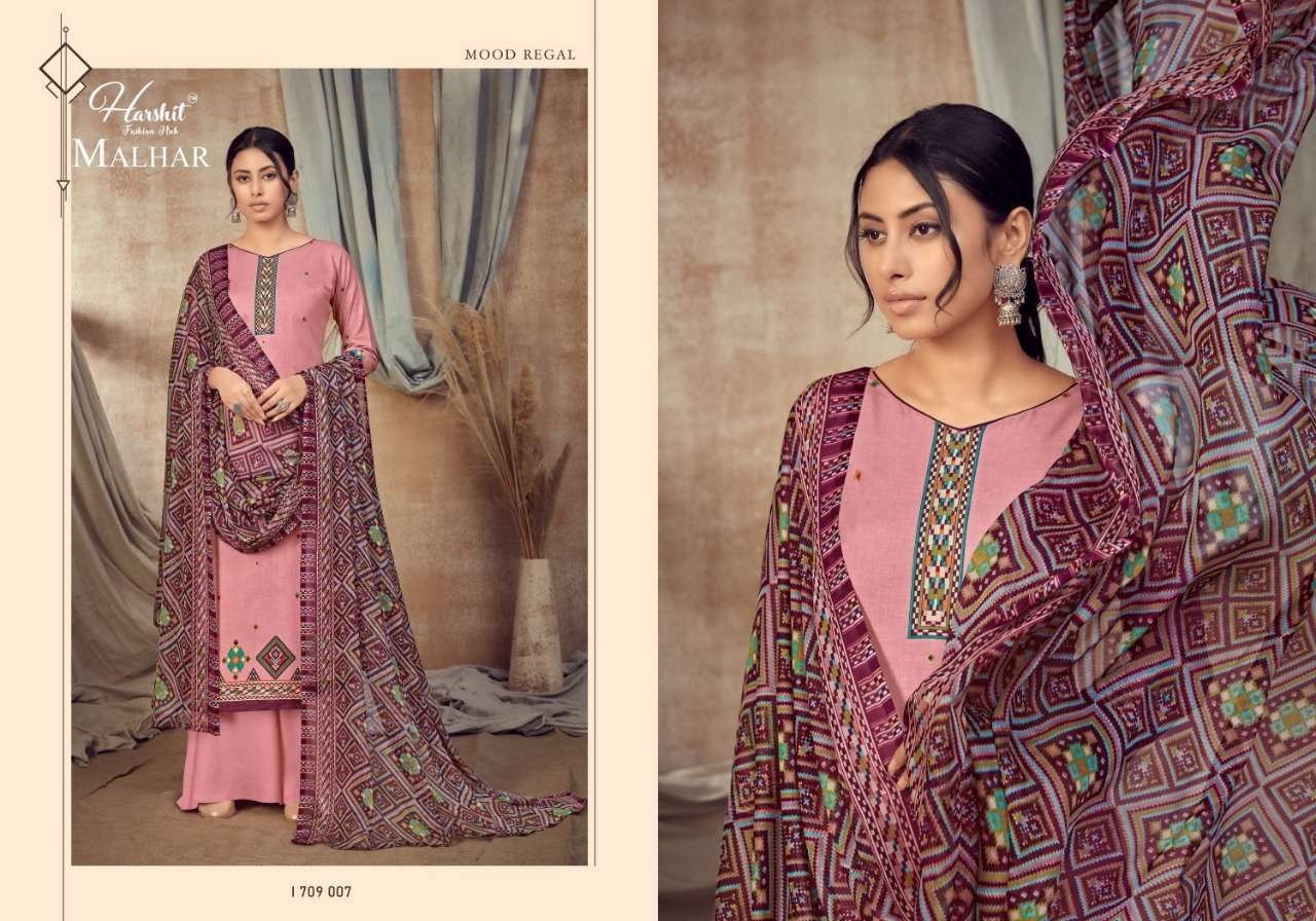 Alok Suits Harshit fashion Malhar Pure Cambric Digital Print With Fancy mirror Work Dress Material