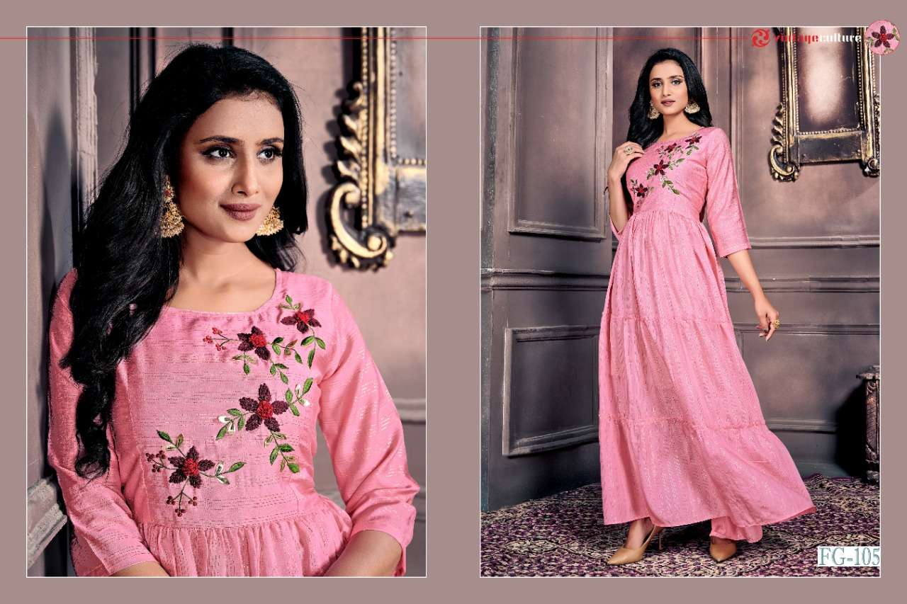 Anokhi Vol 1 Chanderi With Zari Lining With Embroidery Work Kurtis Collection