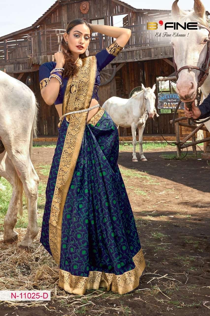 B FINE ART OF ZARI  soft silk party wear saree collection 05
