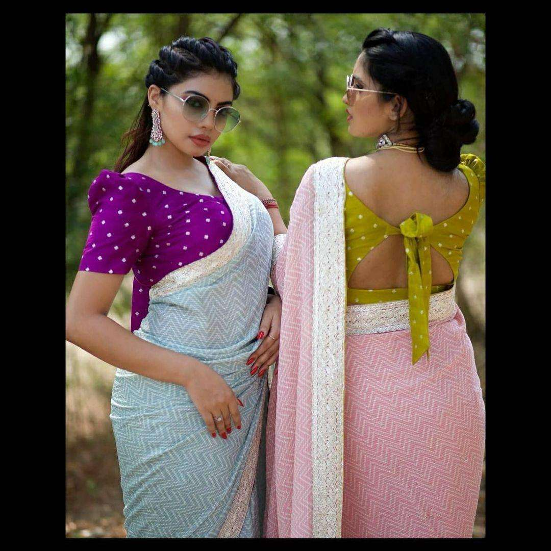 Daisy Georgette Sequence Work Party Wear Sarees Collection