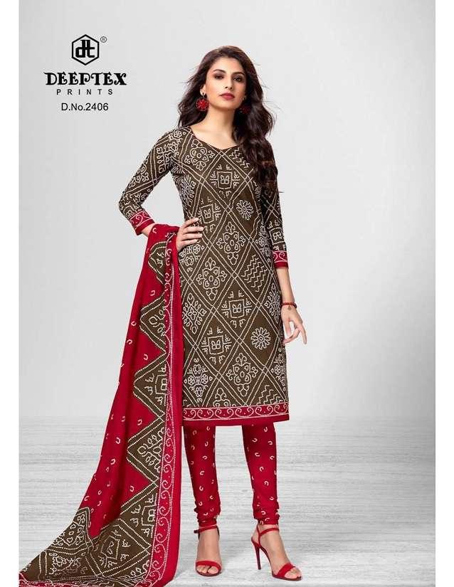 Deeptex Classic Chunaris Vol 24 Cotton Bandhani Printed Dress Material Collection