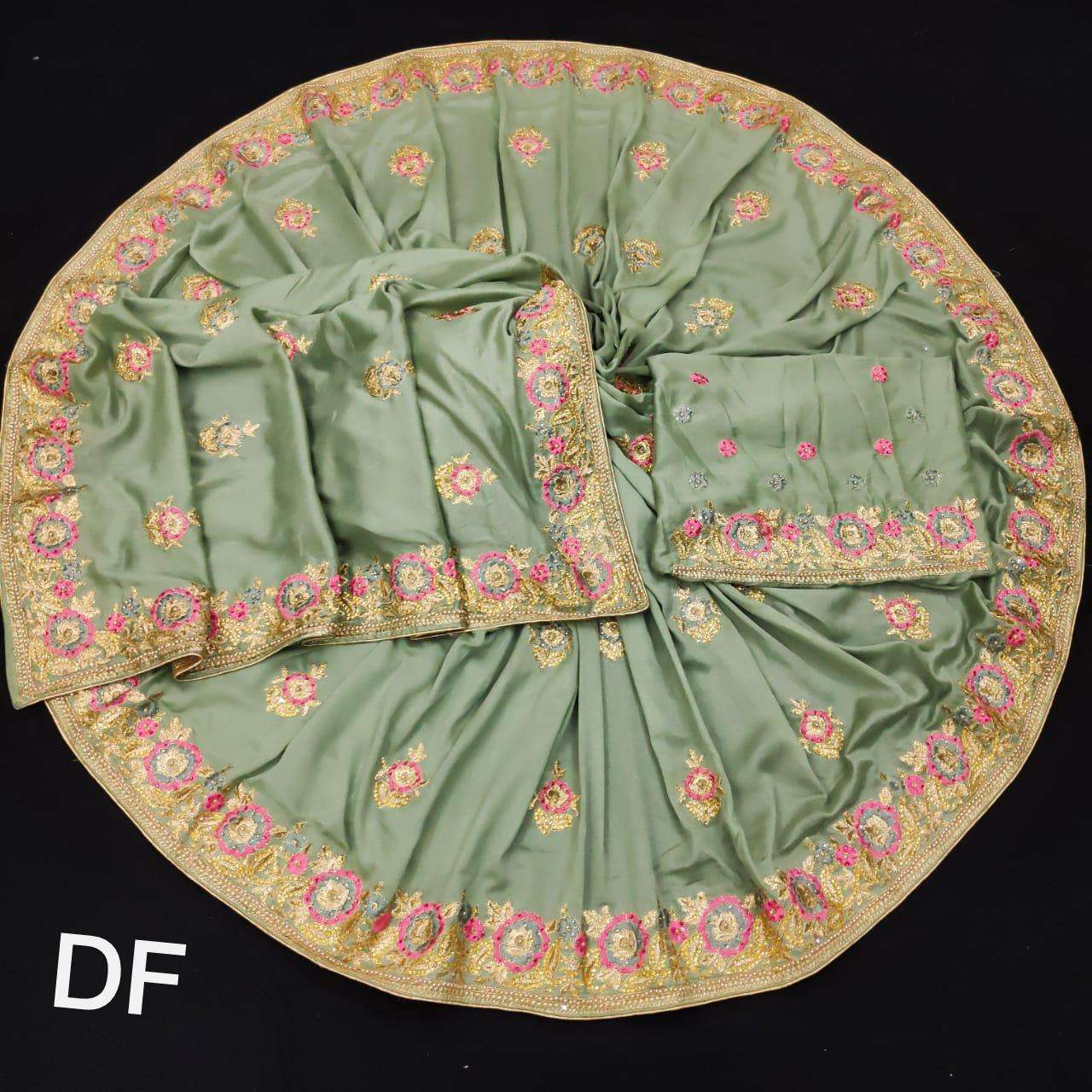 DF 4024 Vichitra Silk Georgette With Multi Embroidery zari Work Sarees Collection