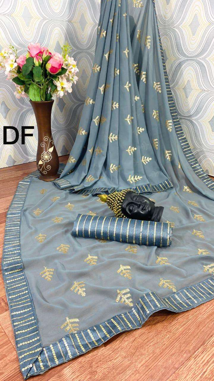 DF Sonpari Georgette With Sequence Work Sarees Collection