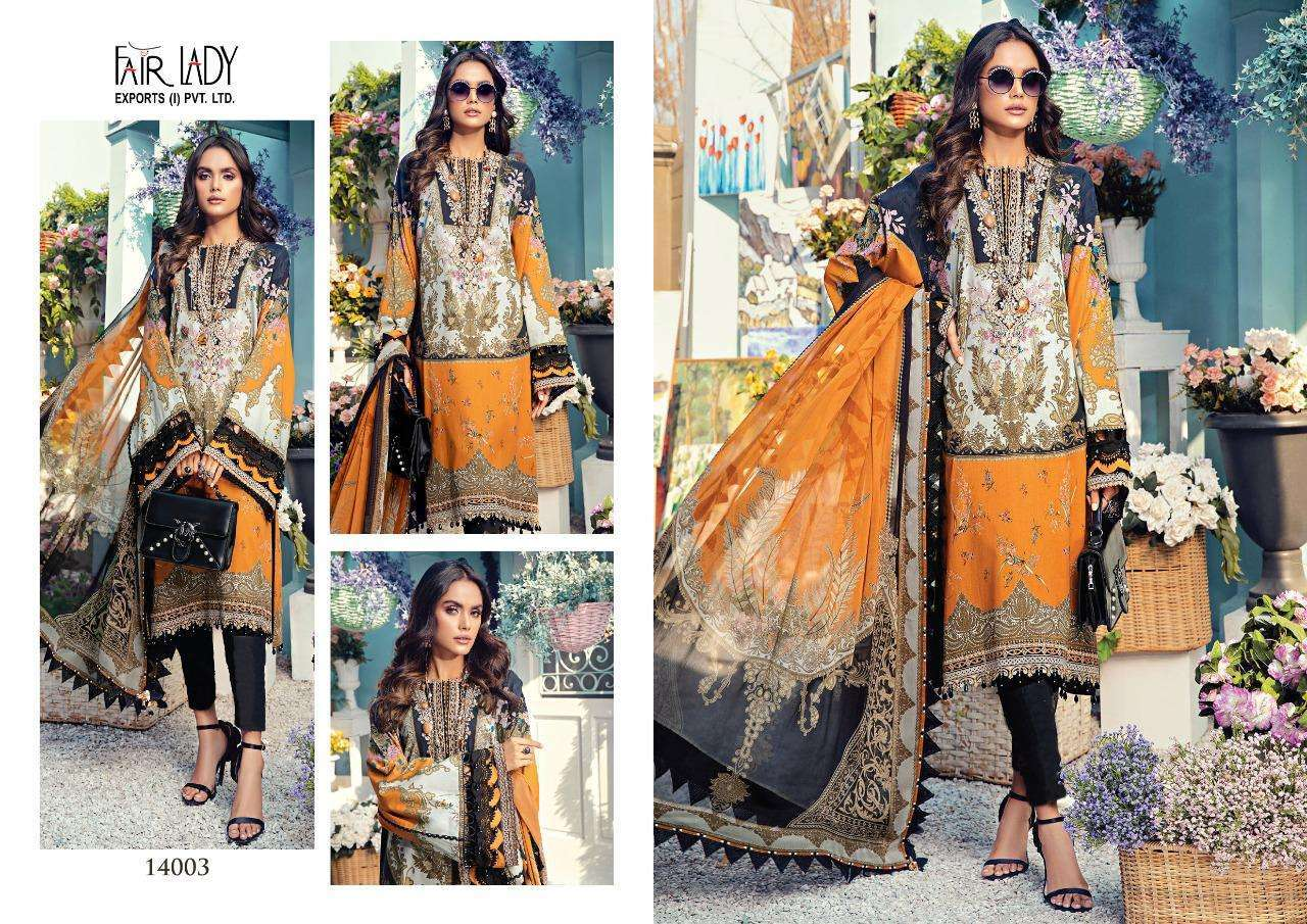Fair lady Anaya Lawn Cotton Print With Embroidery patch work Pakistani Suits Collection At Wholesale Rate