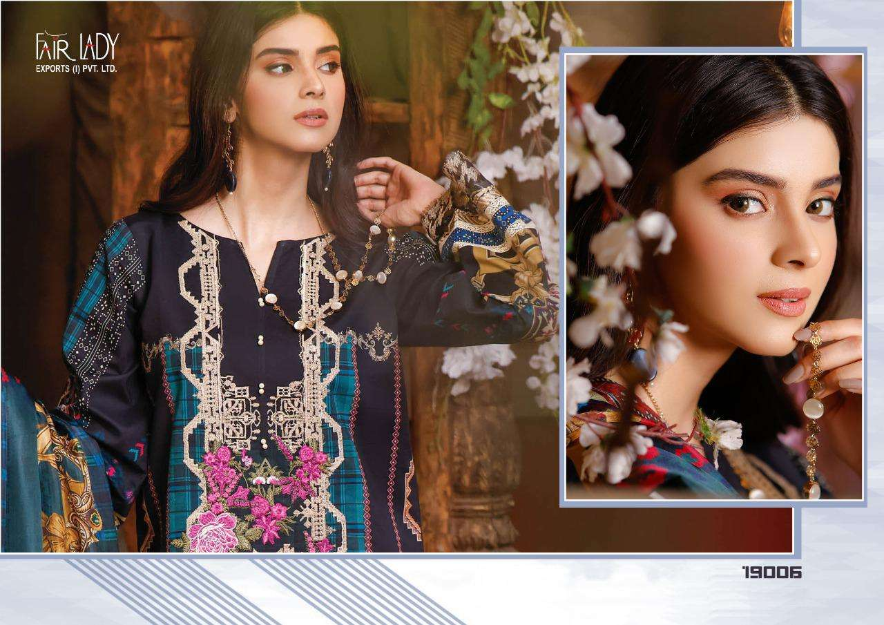 Fair Lady Baroque Luxury Lawn Collection lawn cotton print With Heavy Embroidery patch Work Pakistani Suits collection