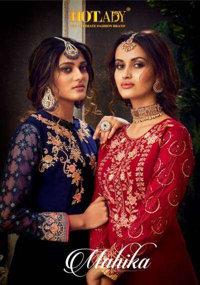 Hotlady Mahika Pure Georgette With Embroidery Work Salwar kameez Collection