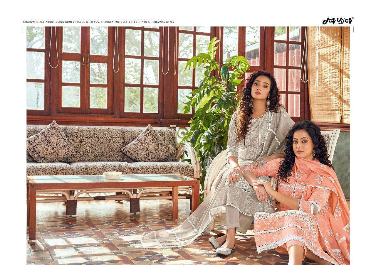Jay Vijay Siraah Vol 2 Pure Cotton Block Print with Fancy Lacework Salwar Kameez Collection