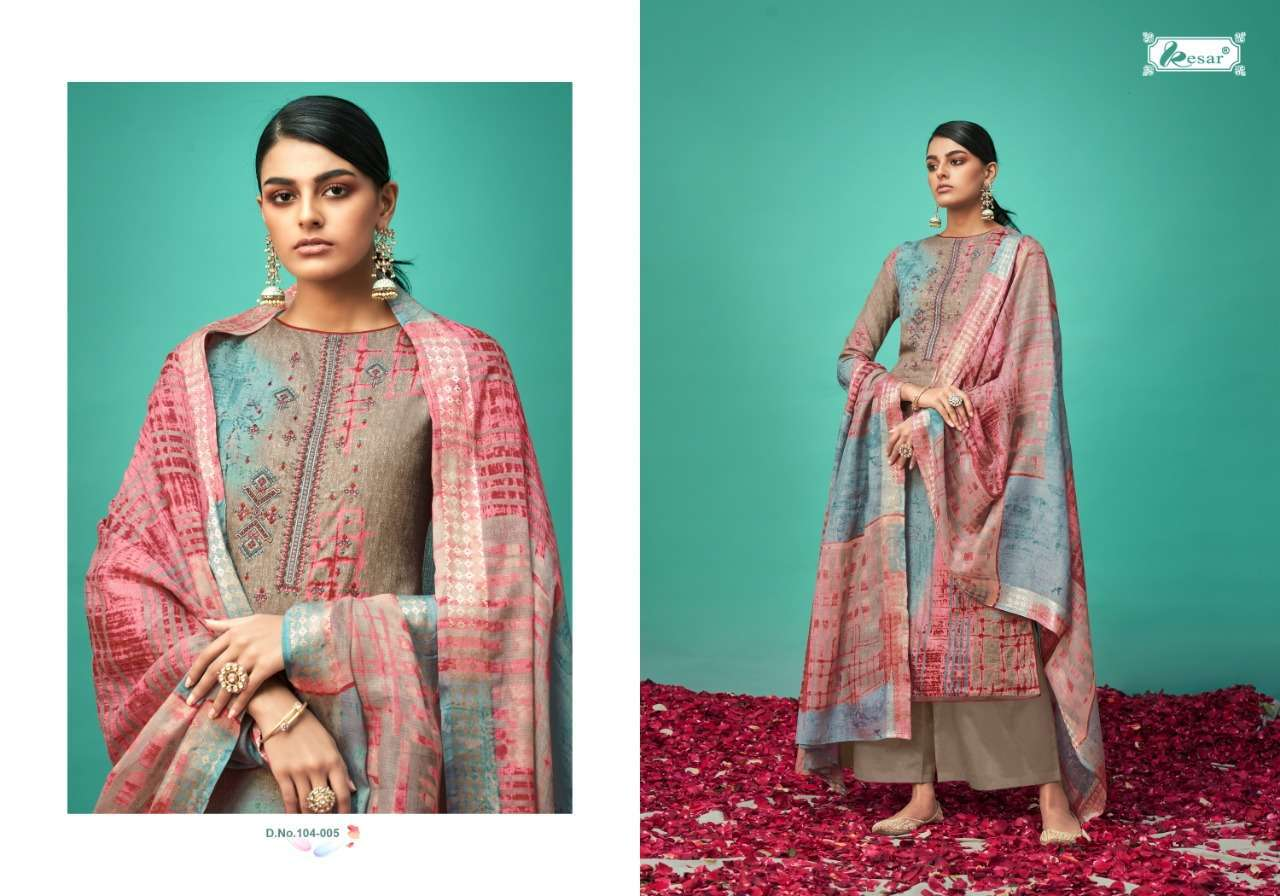 Kesar Roshe Pure heavy Lawn Cotton Digital print With Embroidery Work Dress Material Collection