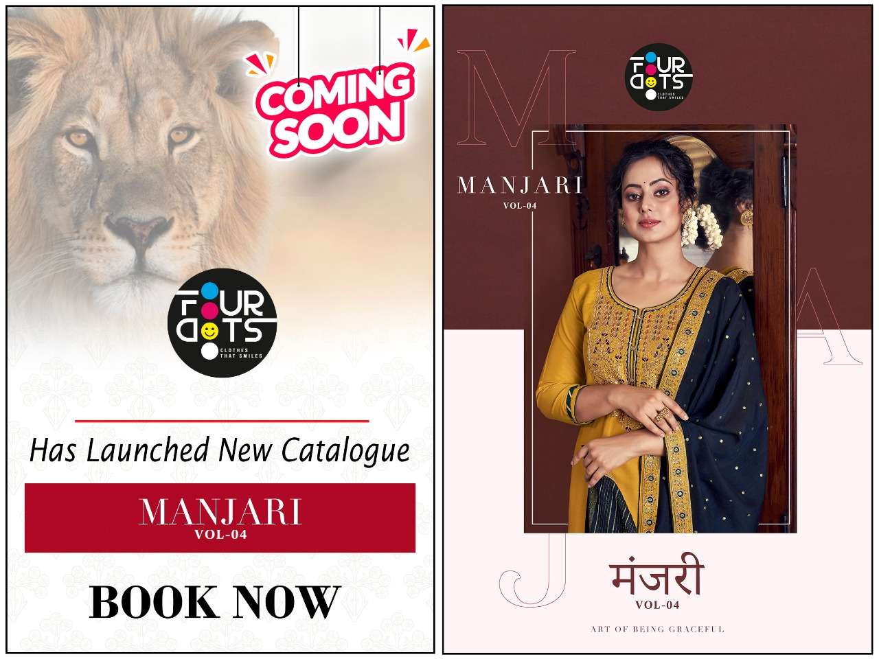 Kessi fabrics Four Dots Manjari Vol 4 Parampara Silk With Coding Embroidery Sequence work Dress Material Collection