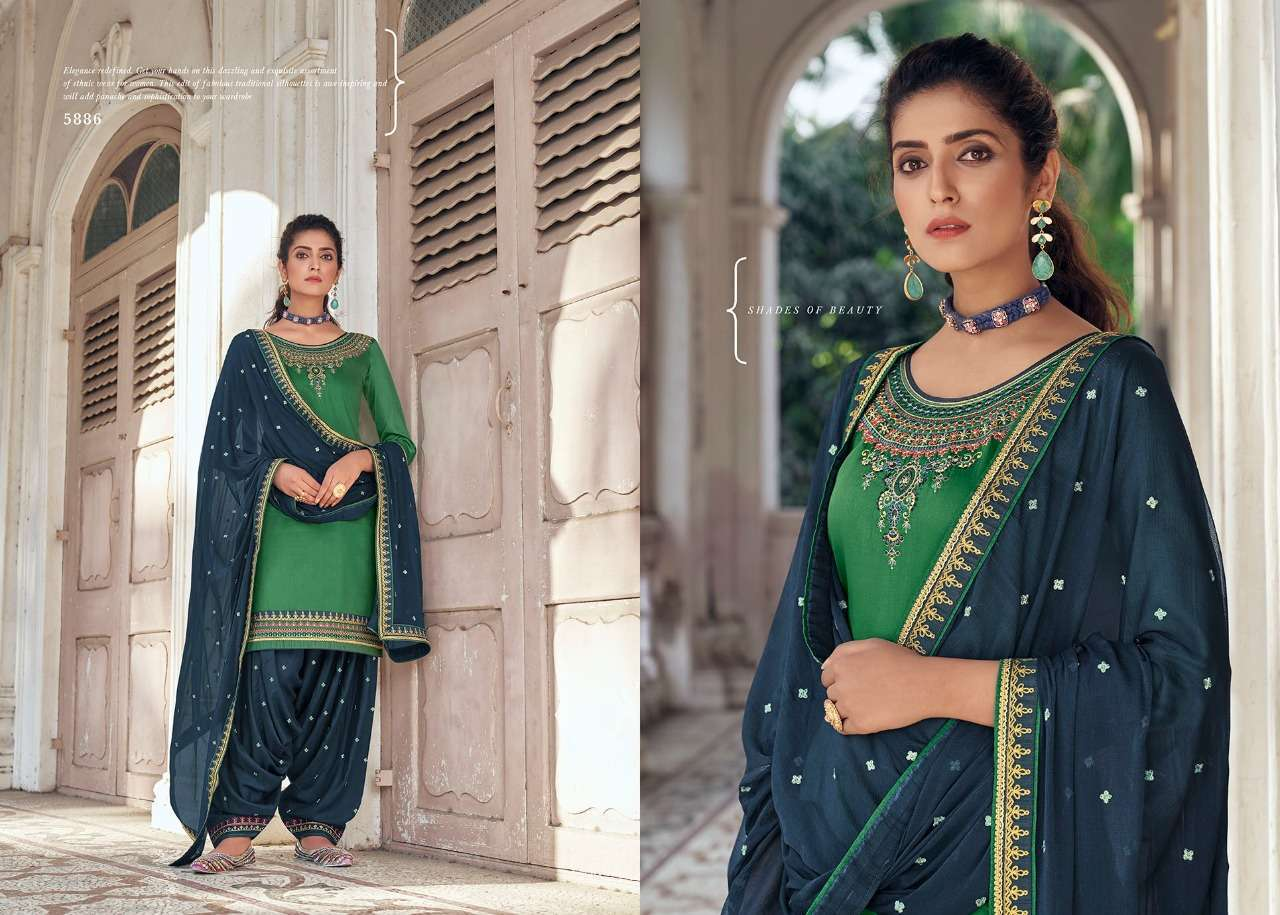 Kessi Fabrics Patiyala House vol 84 Jam Silk With Embroidery work Dress Material Collection