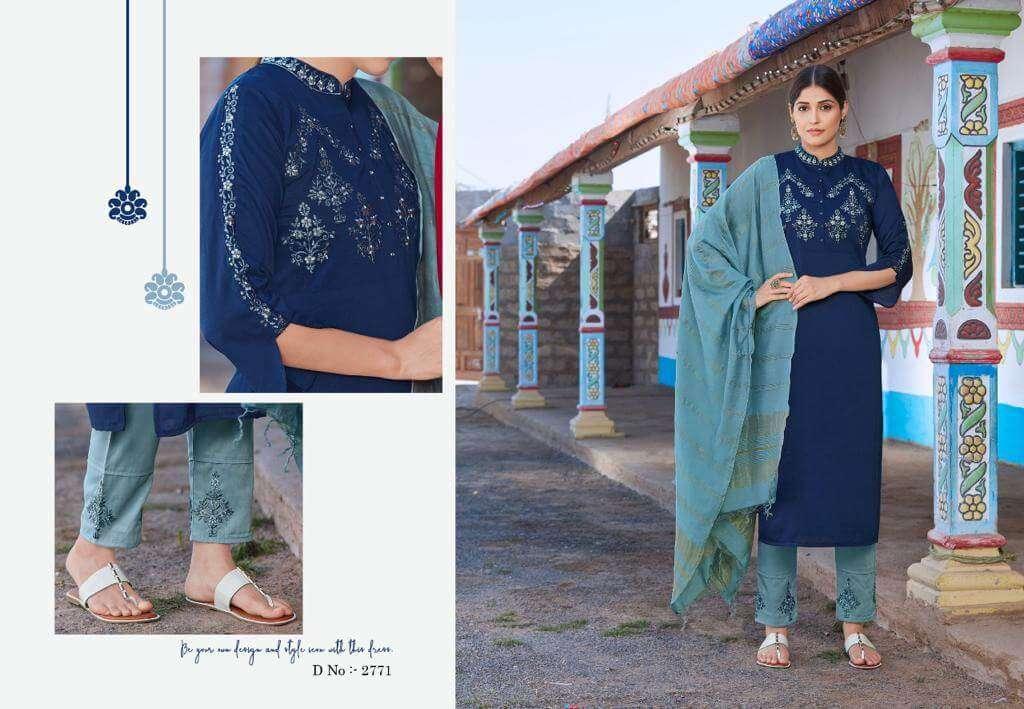 Kessi fabrics Rangoon Foram Chinnon With Embroidery Work Salwar kameez Collection