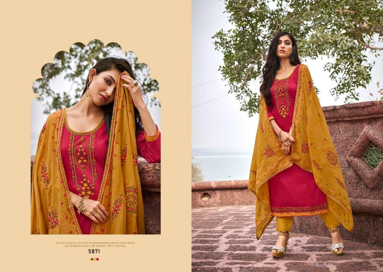 Kessi fabrics Zaraa Jam Silk With embroidery Work Dress Material Collection