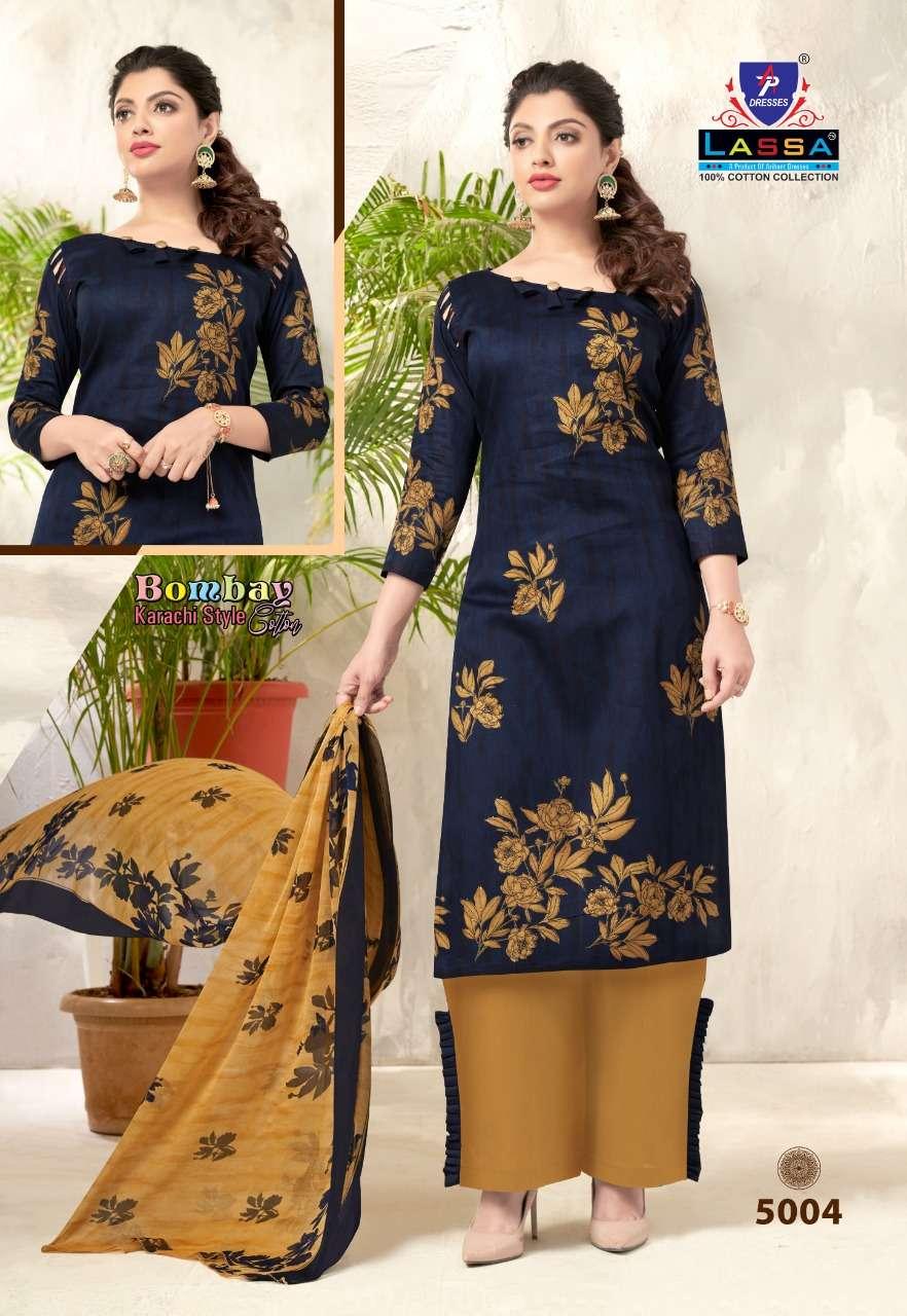 Lassa Bombay Karachi Style Vol 5 Cotton Fancy Designer Dress Material Collection