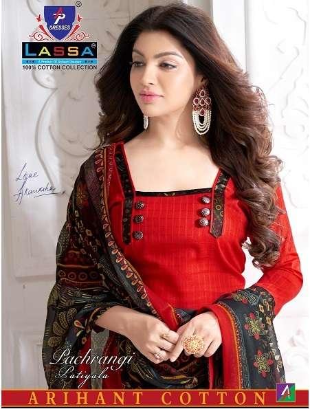 lassa Pachrangi patiyala Cotton printed Dress Material Collection