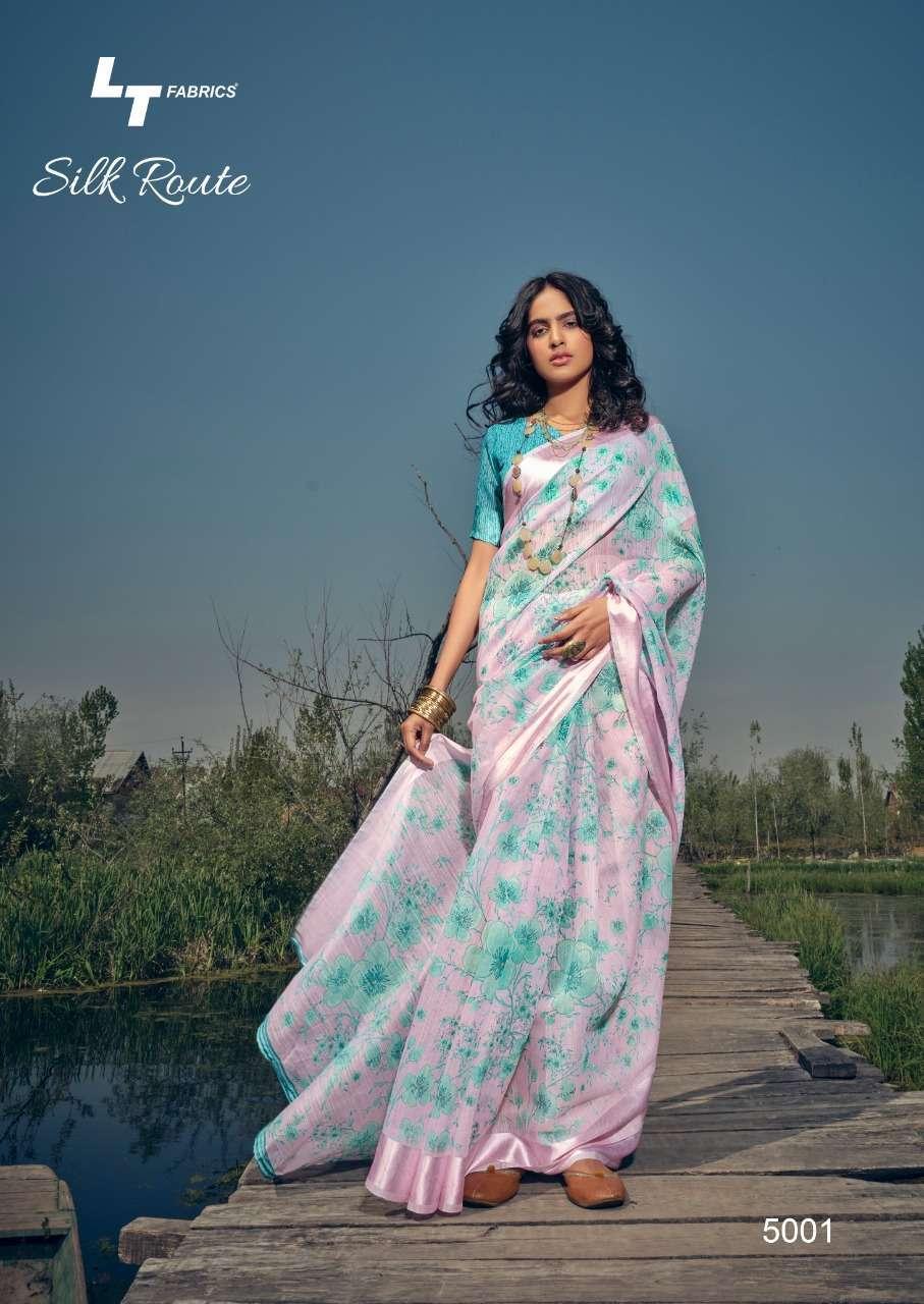 LT Fabrics Kashvi Silk Route Silk Printed Regular Wear Sarees Collection