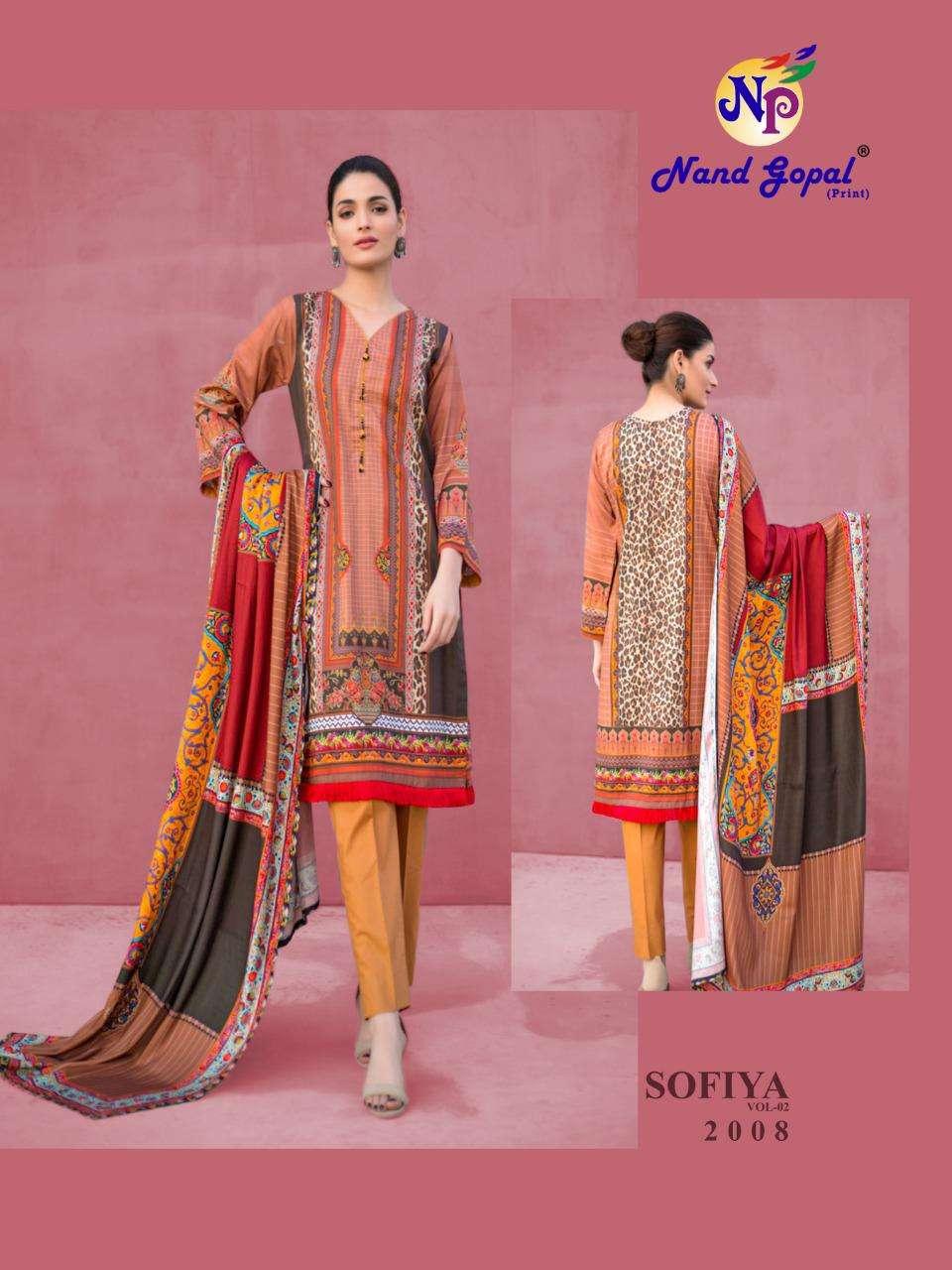 Nand Gopal Sofiya Vol 1 Pure Cotton Karachi Print Dress Material Collection