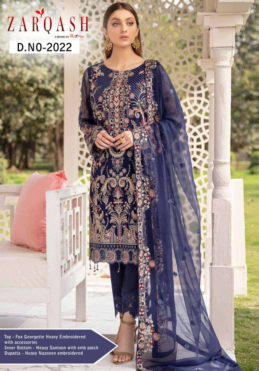 Ramsha Zarqash Faux Georgette With embroidery Work Pakistani Suits Collection