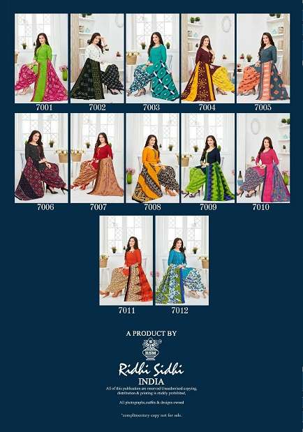 RIDDHI SIDDHI PRERNA VOL 7 COTTON PRINTED READYMADE DRESS MATERIAL COLLECTION