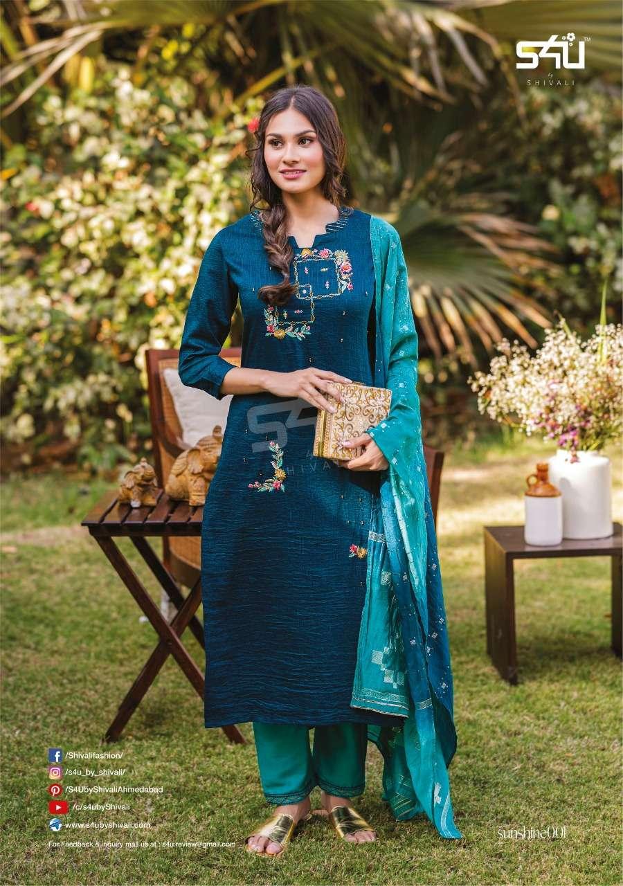 S4U Sunshine Fancy Silk Designer kurtis With Dupatta Collection