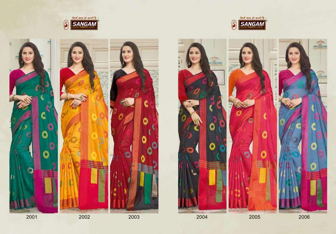 Sangam Prints vedika Handloom Cotton Sarees Collection