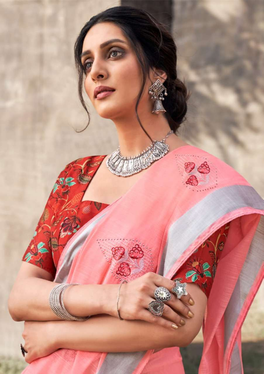 Shangrila Alora linen Vol 2 Pure Soft linen With Zari Work Sarees collection