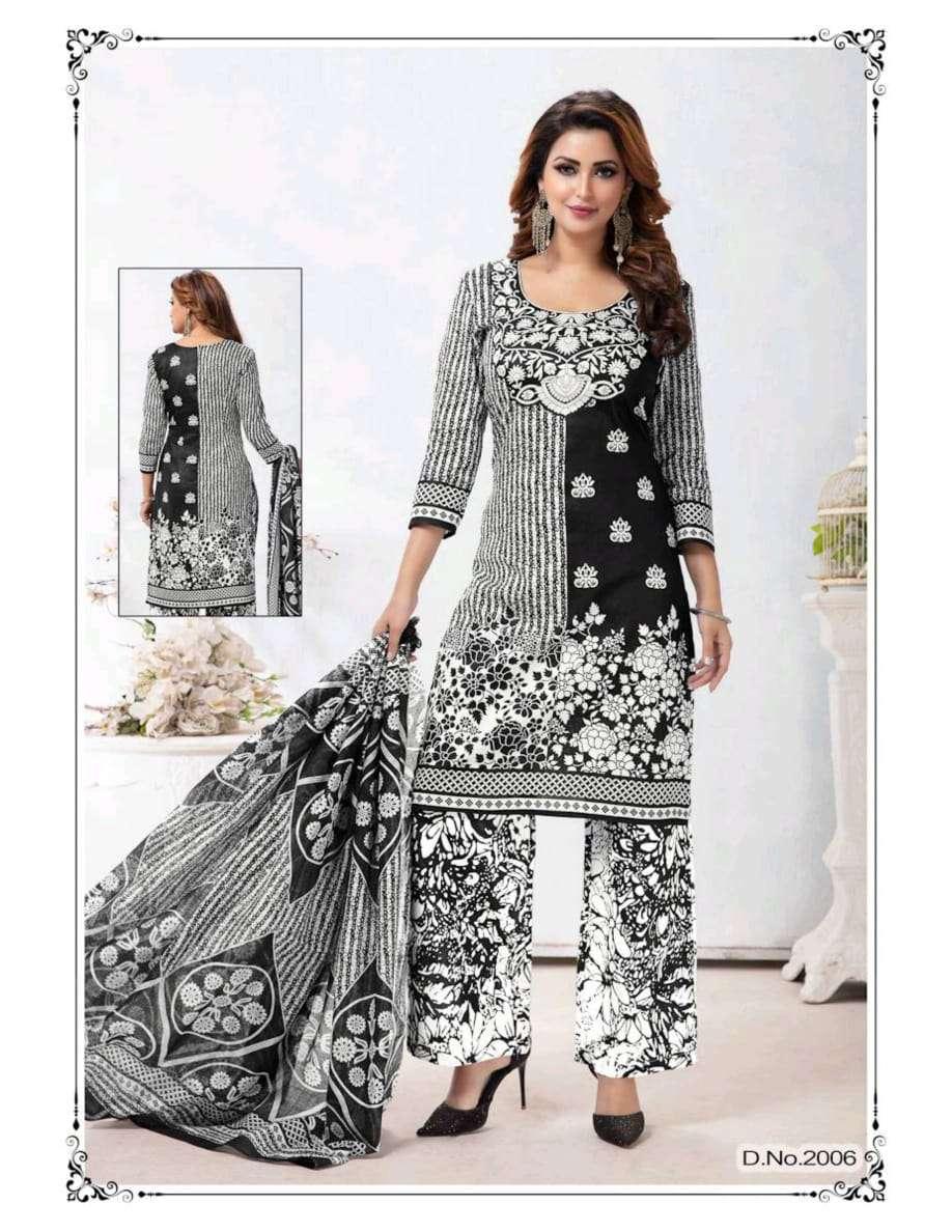 Shree Meenaxi Black Queen Vol 2 Pure Cotton With Karachi Print Dress Material Collection