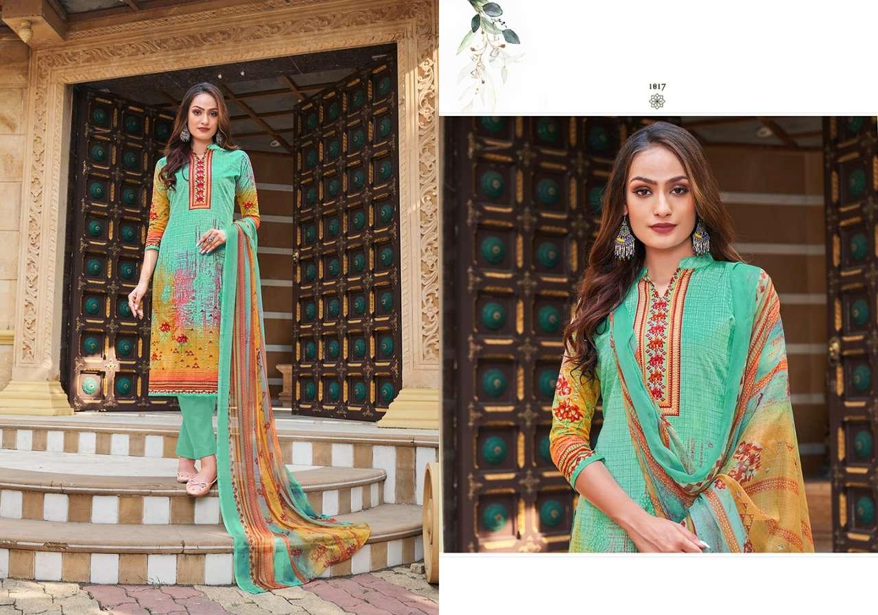 Siyona Ishana Pure Cambric Cotton Digital Print Dress Material Collection