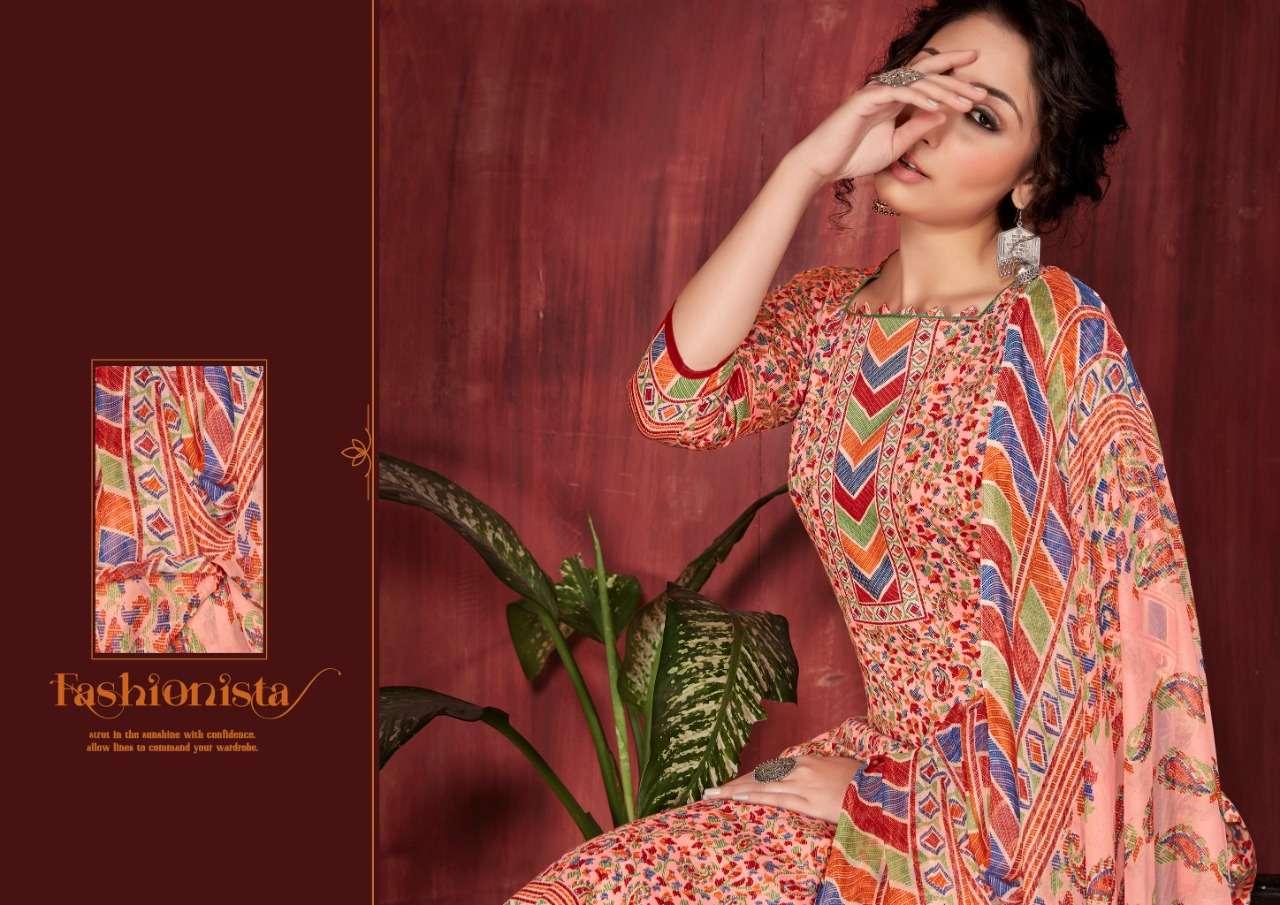 Siyona Jasmeet Pure jam Silk Cotton Digital Print Dress Material Collection