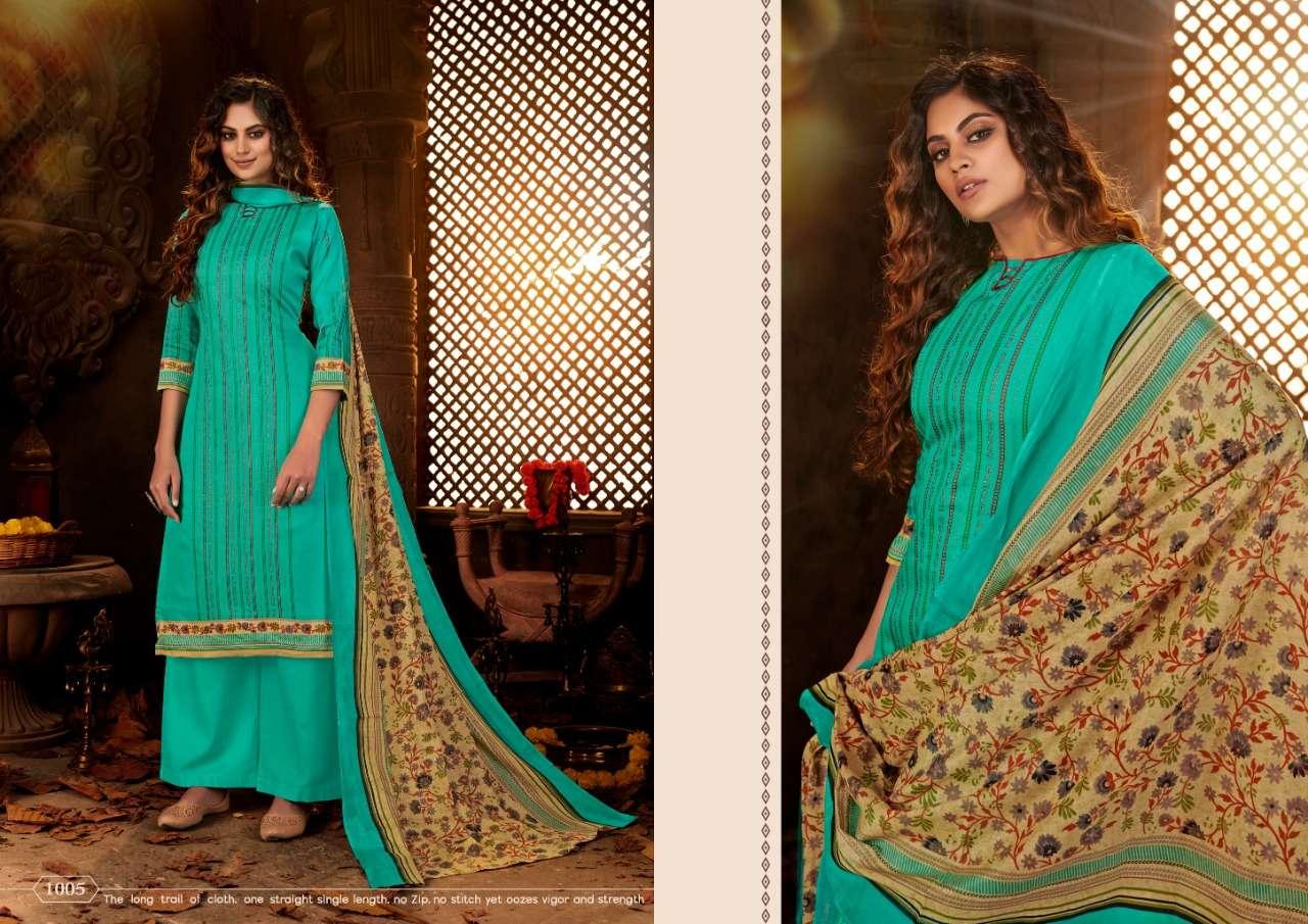 Siyona Sangini Pure Jam Cotton Digital print With Swarovski Work Dress Material Collection