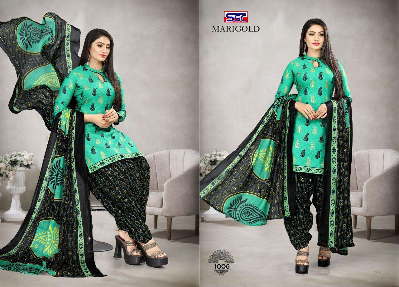 SSC Creation Marigold Vol 1 heavy Soft Cotton Printed Dress Material Collection