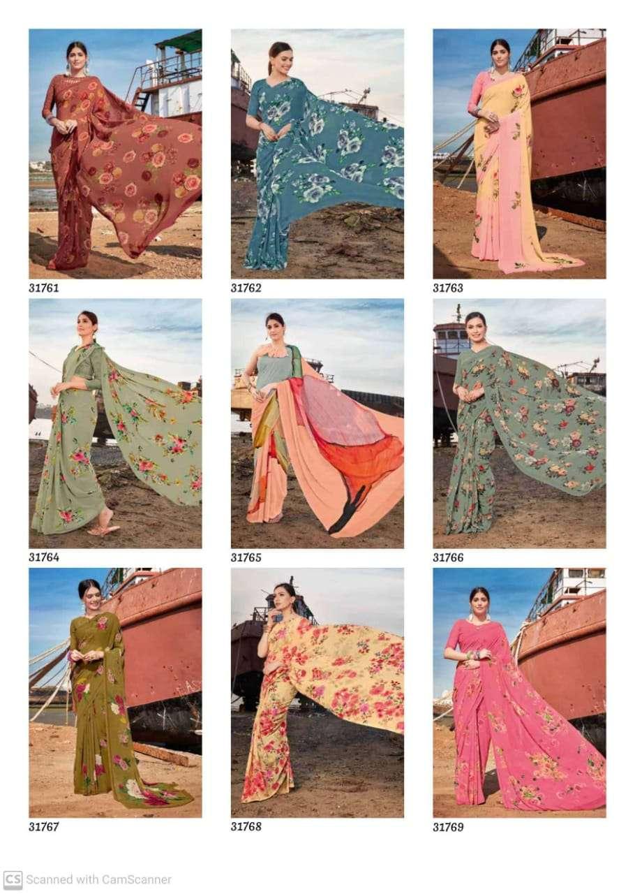subhash sarees gardenia vol 9 pure georgette digital print sarees collection