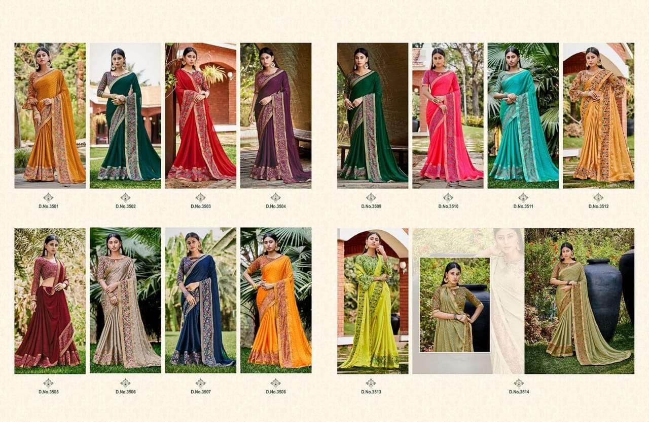 Aayami Sarees Sakshi Fancy Georgette party Wear Sarees collection