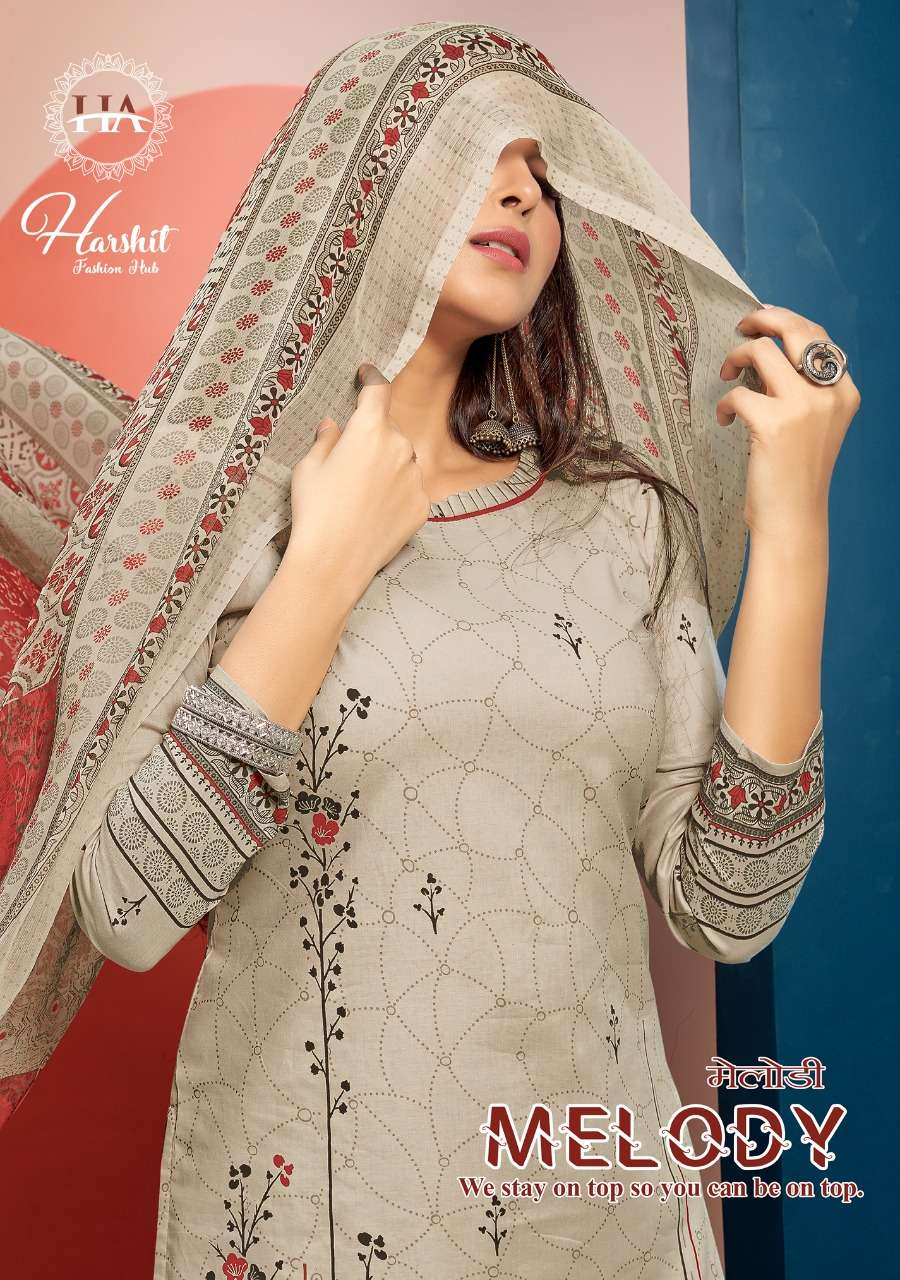 Alok suits Harshit Melody Cambric Cotton fancy Printed Dress material collection