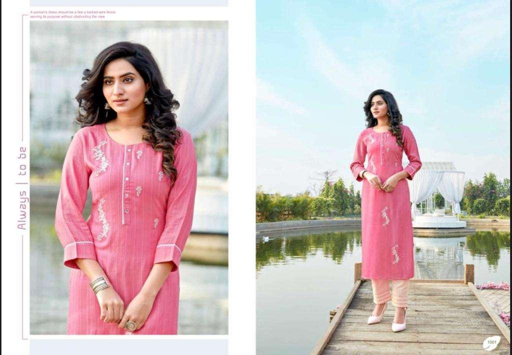 Amaaya Garments symbol Pure Viscose Doriya Weaving Sequence Embroidery Work Kurti With Bottom Kurtis collection