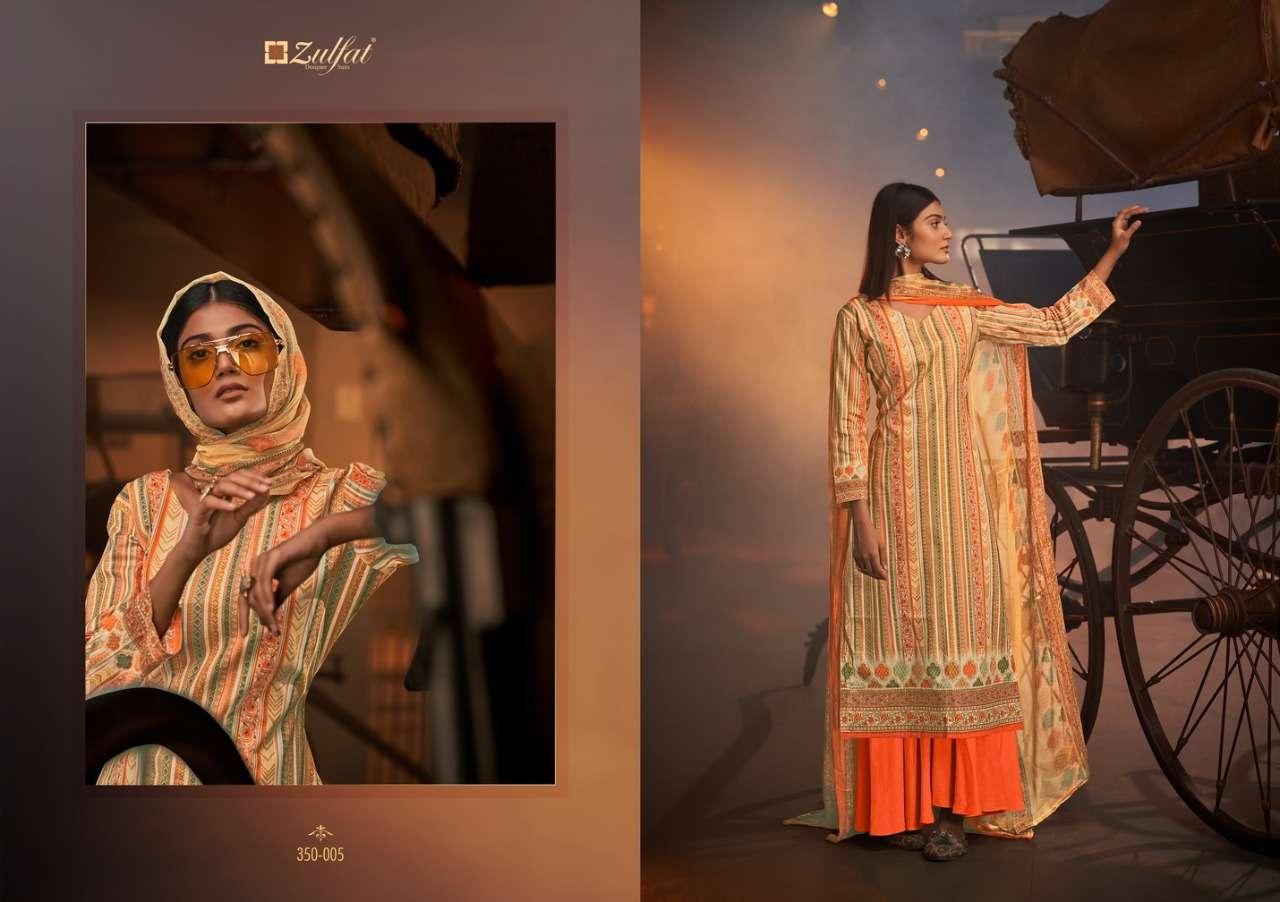 Belliza Designer Studio Zulfat Advika Cotton Digital Print Dress material collection