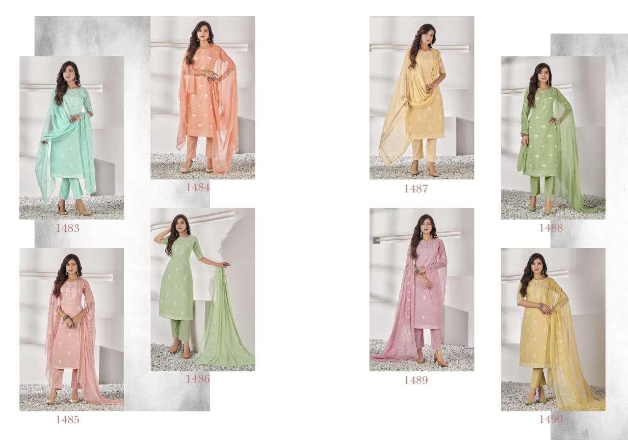 Bipson Falak Cotton Lawn Khadi Print Dress Material Collection