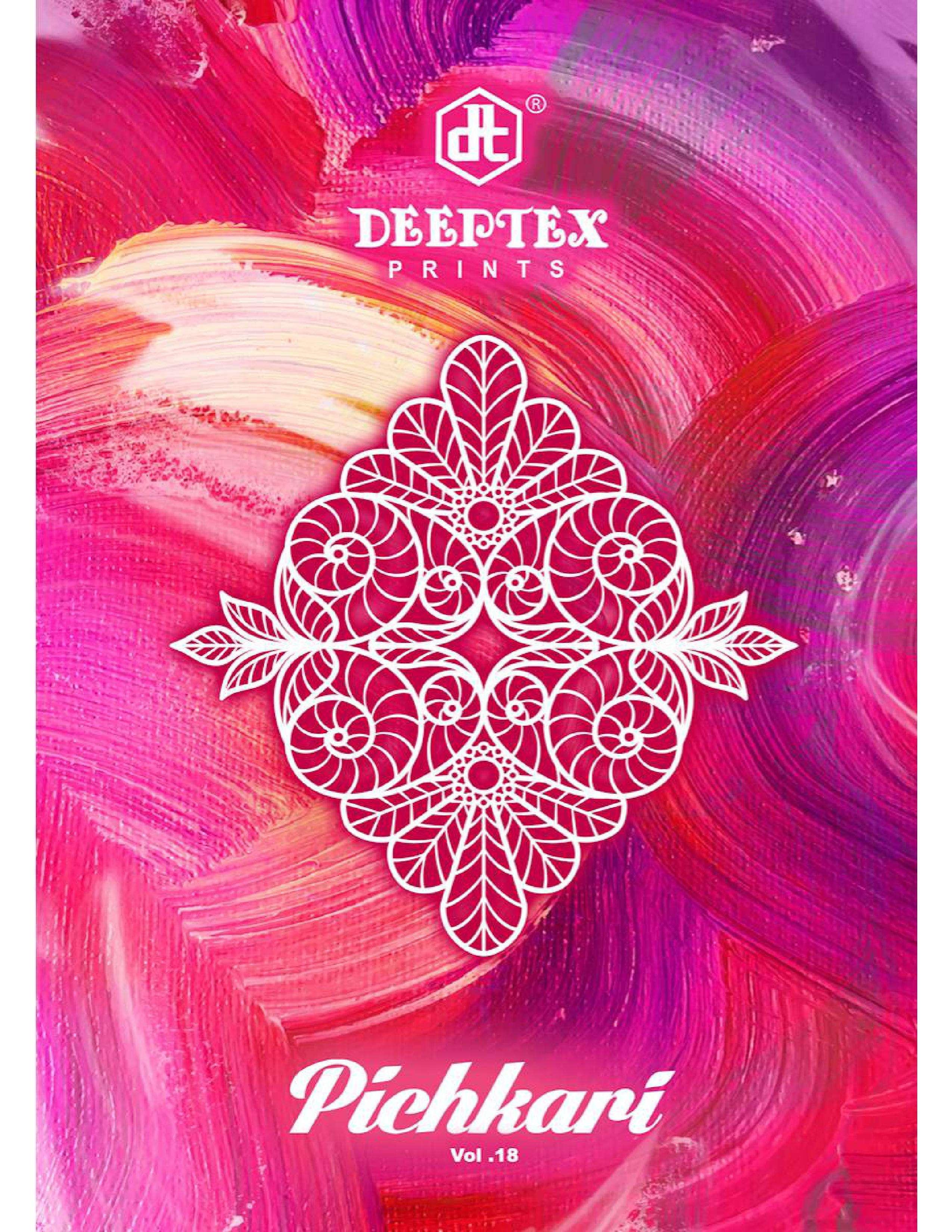 DEEPTEX PRINTS PICHKARI VOL 18 COTTON PRINTED DRESS MATERIAL COLLECTION