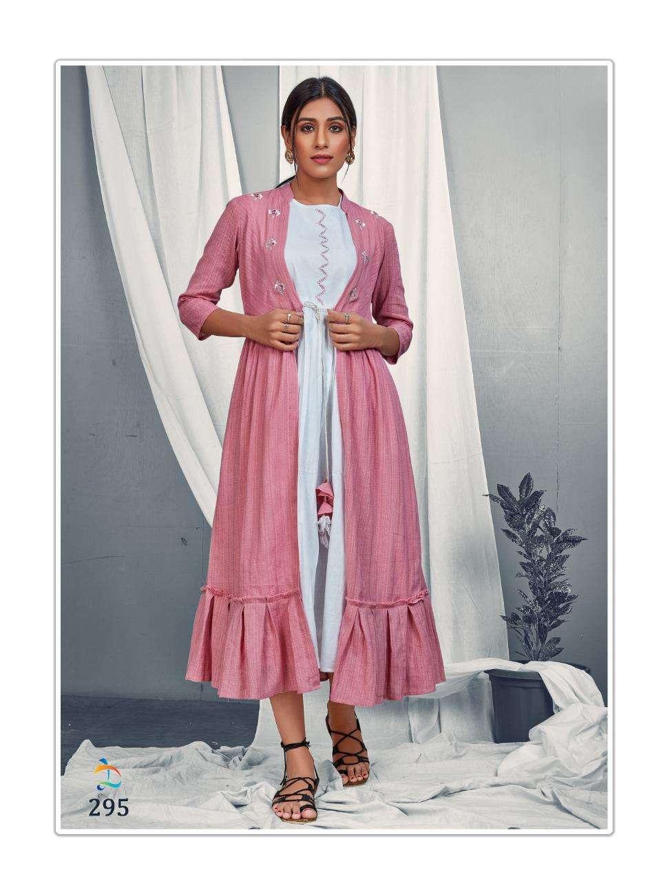 Dovi Fashion Maple Cotton With Long jacket Style Kurtis collection