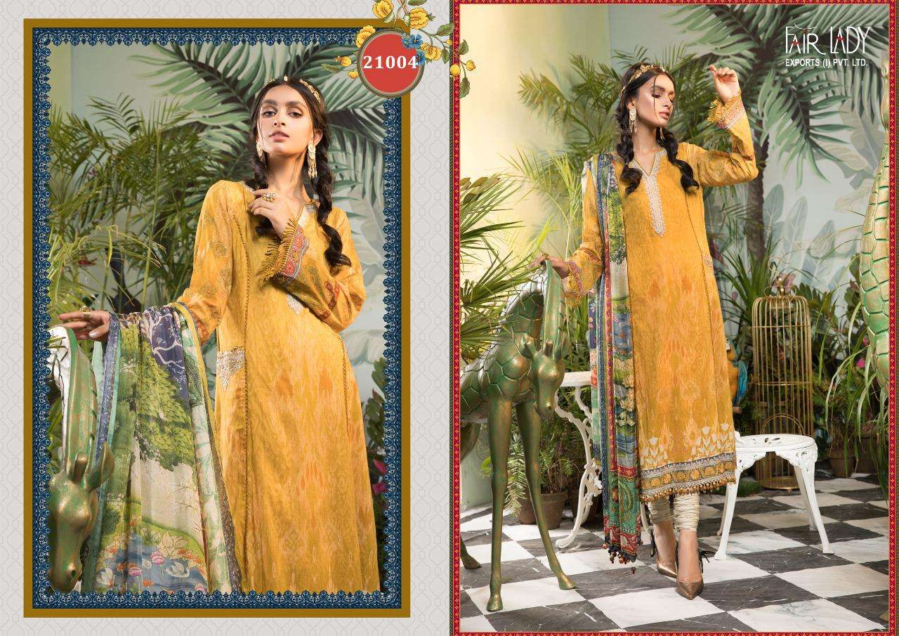 Fair Lady Maria B M print Lawn cotton Digital Print With heavy Embroidery patch Work Pakistani Suits collection